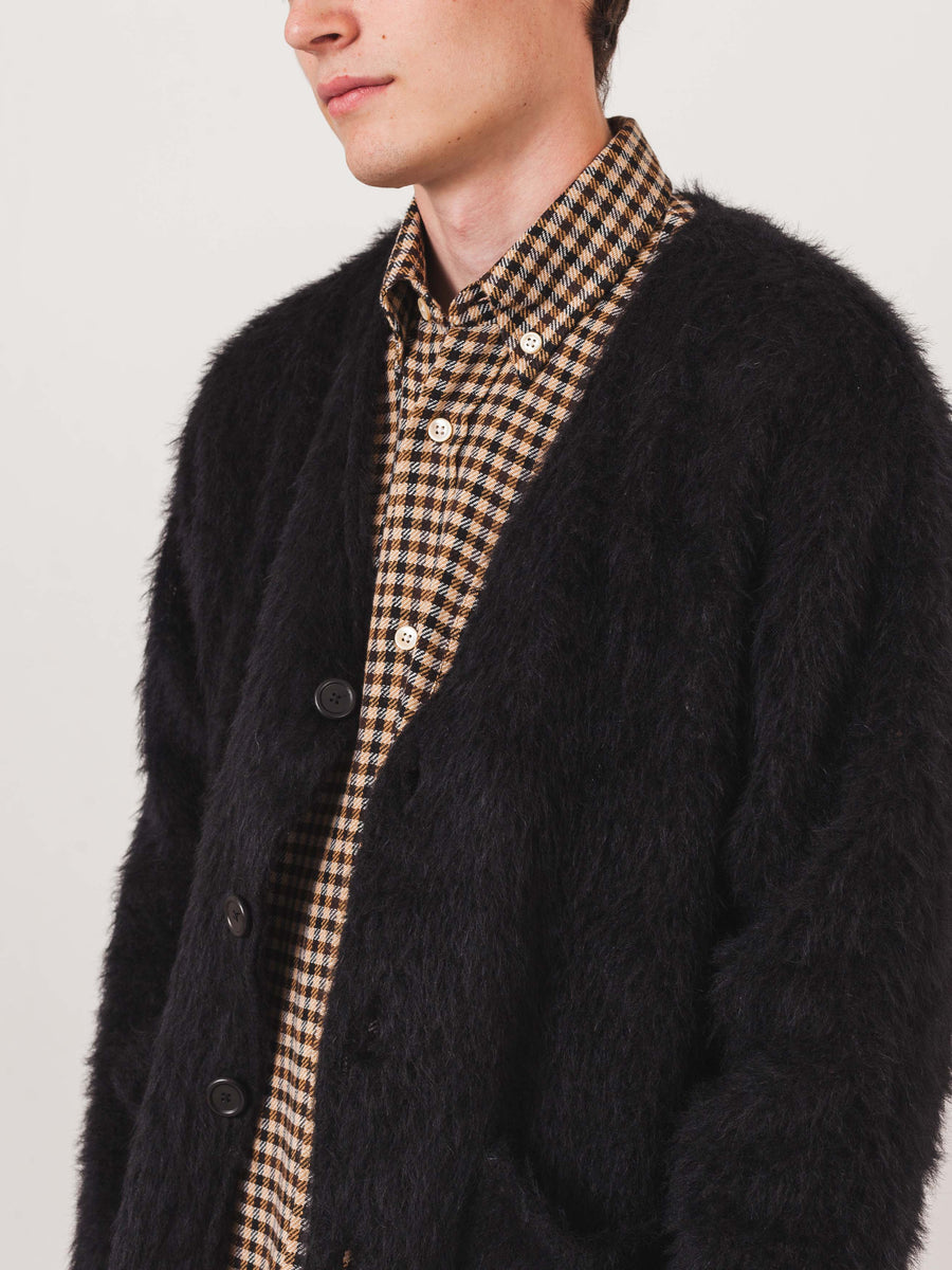 our-legacy-Black-Mohair-Cardigan-on-body