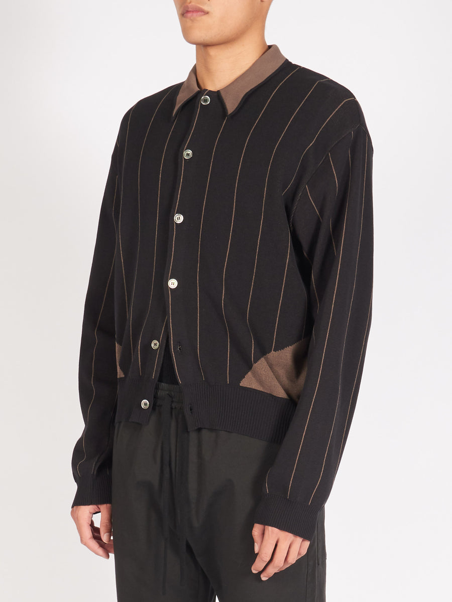 our-legacy-Black-Stripe-Evening-Polo