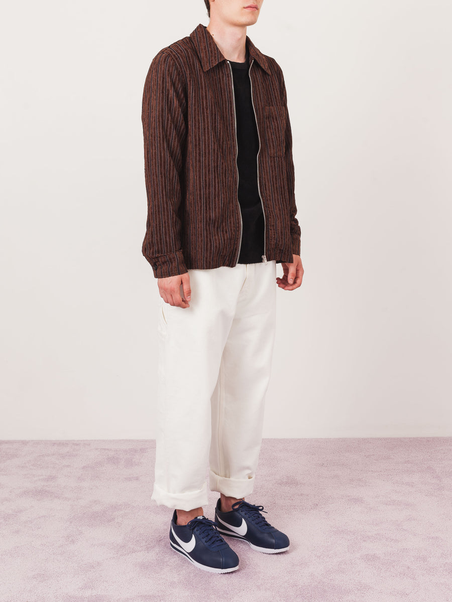 our-legacy-Brown-Corduroy-Multi-Drip-Shirt-on-body