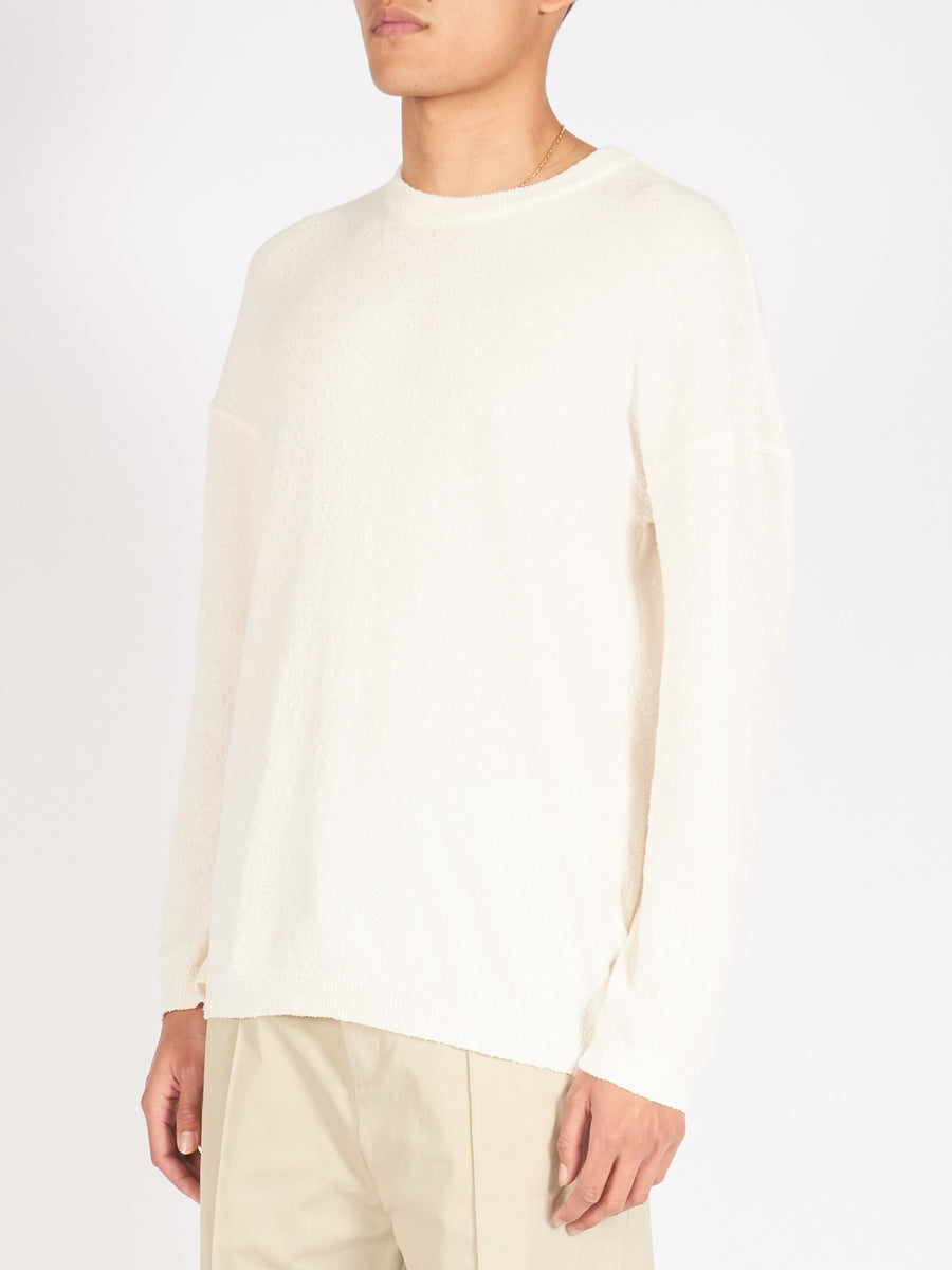 Cream White Popover Roundneck