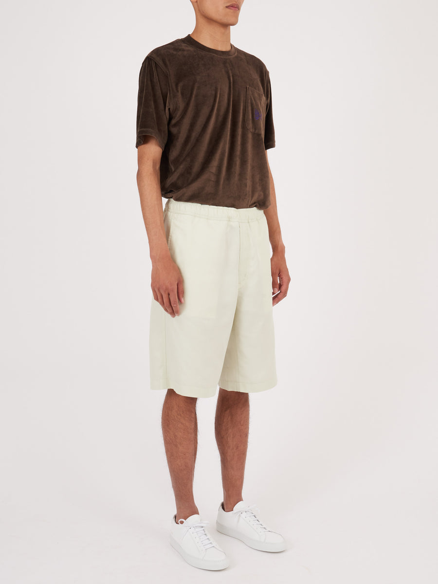 our-legacy-Dirt-White-Translucent-Drape-Short-on-body