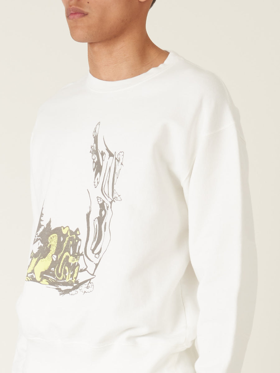 our-legacy-Psychedelic-Hunt-Print-Patch-Sweatshirt-on-body