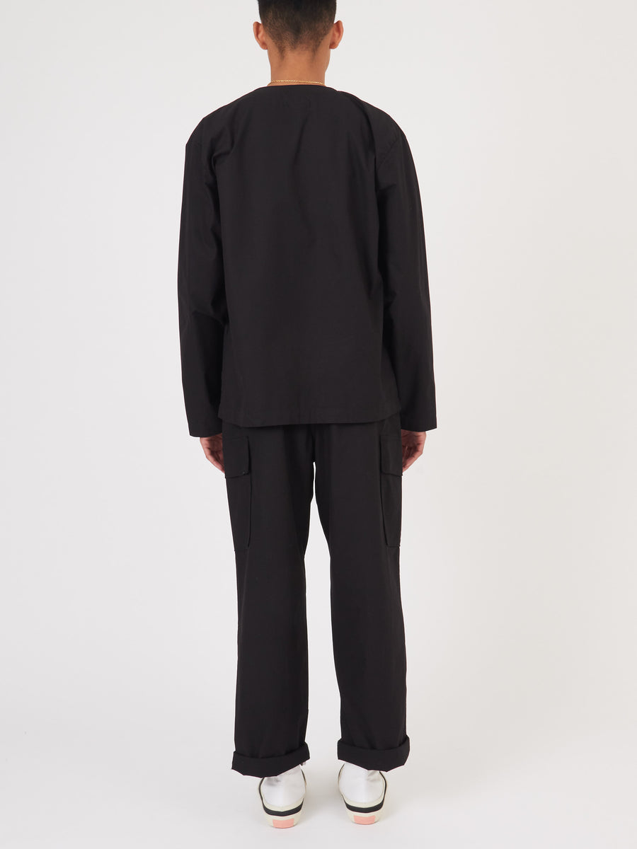 our-legacy-Washed-Black-Parachute-Cardigan-on-body