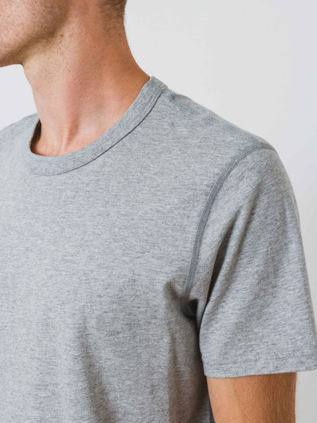 Heather Grey Ringspun Jersey T-Shirt
