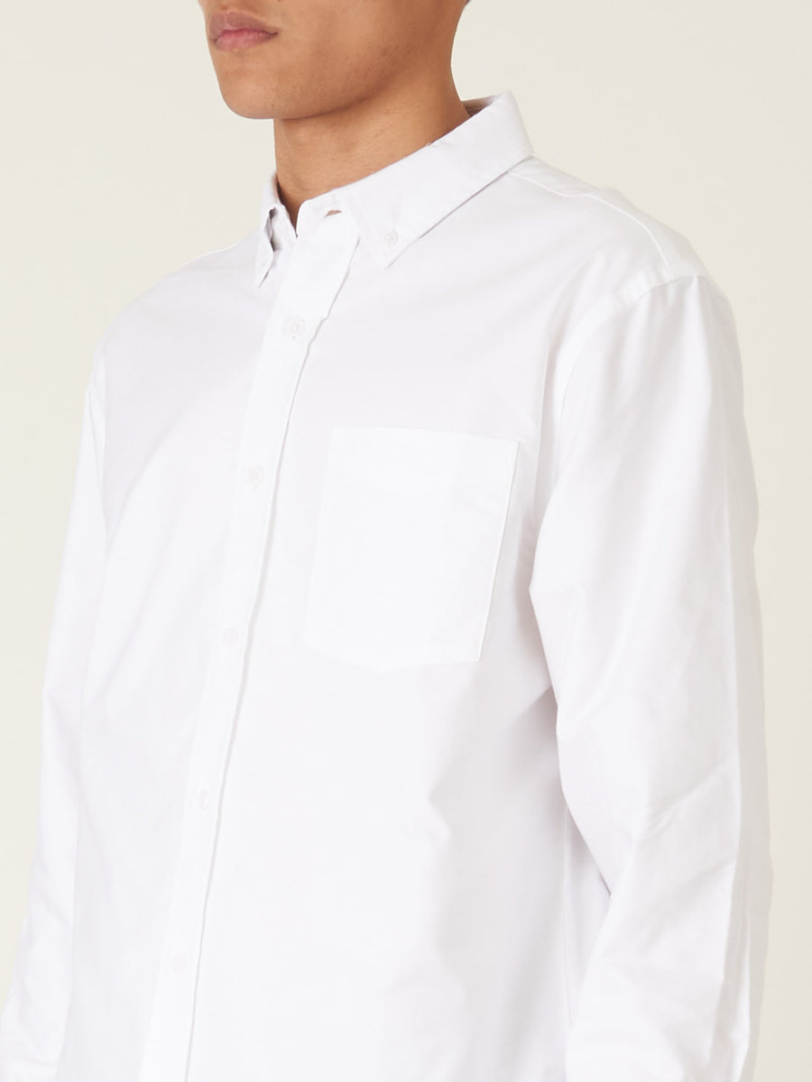 saturdays-White-Crosby-Oxford-L/S-Shirt-on-body