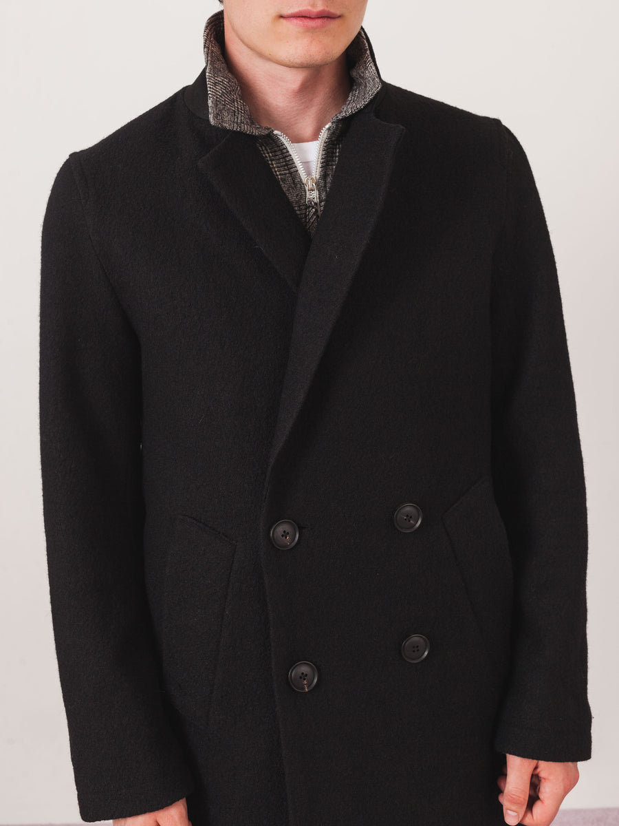saturdays-nyc-Black-Saul-Double-Breasted-Top-Coat-on-body