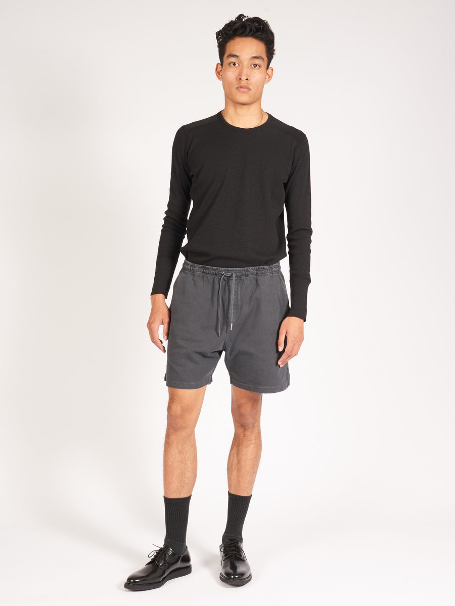 schnayderman's-Black-Jersey-Shorts