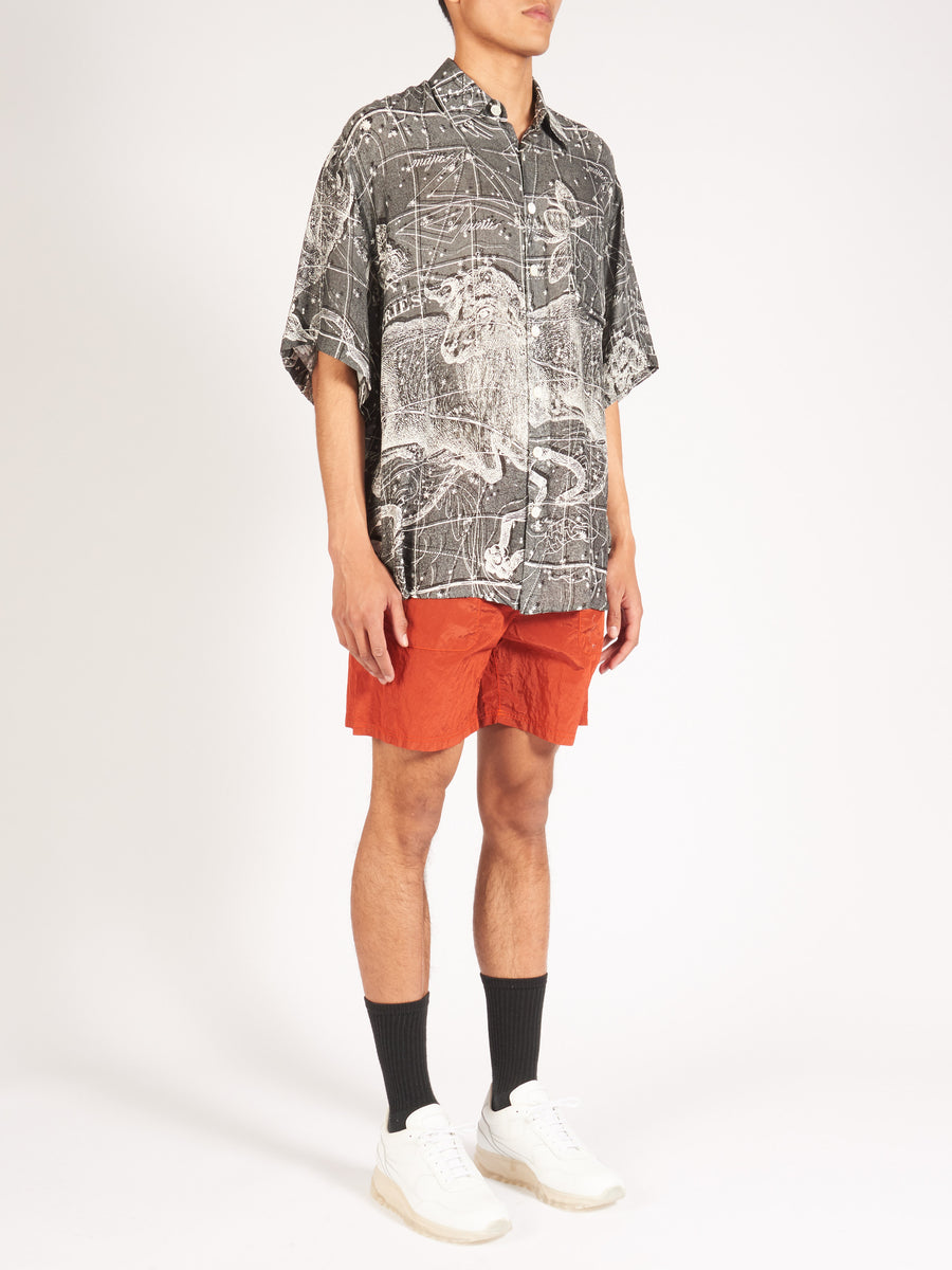 schnayderman's-Black And White S/S-Oversized-Zodiac-Shirt