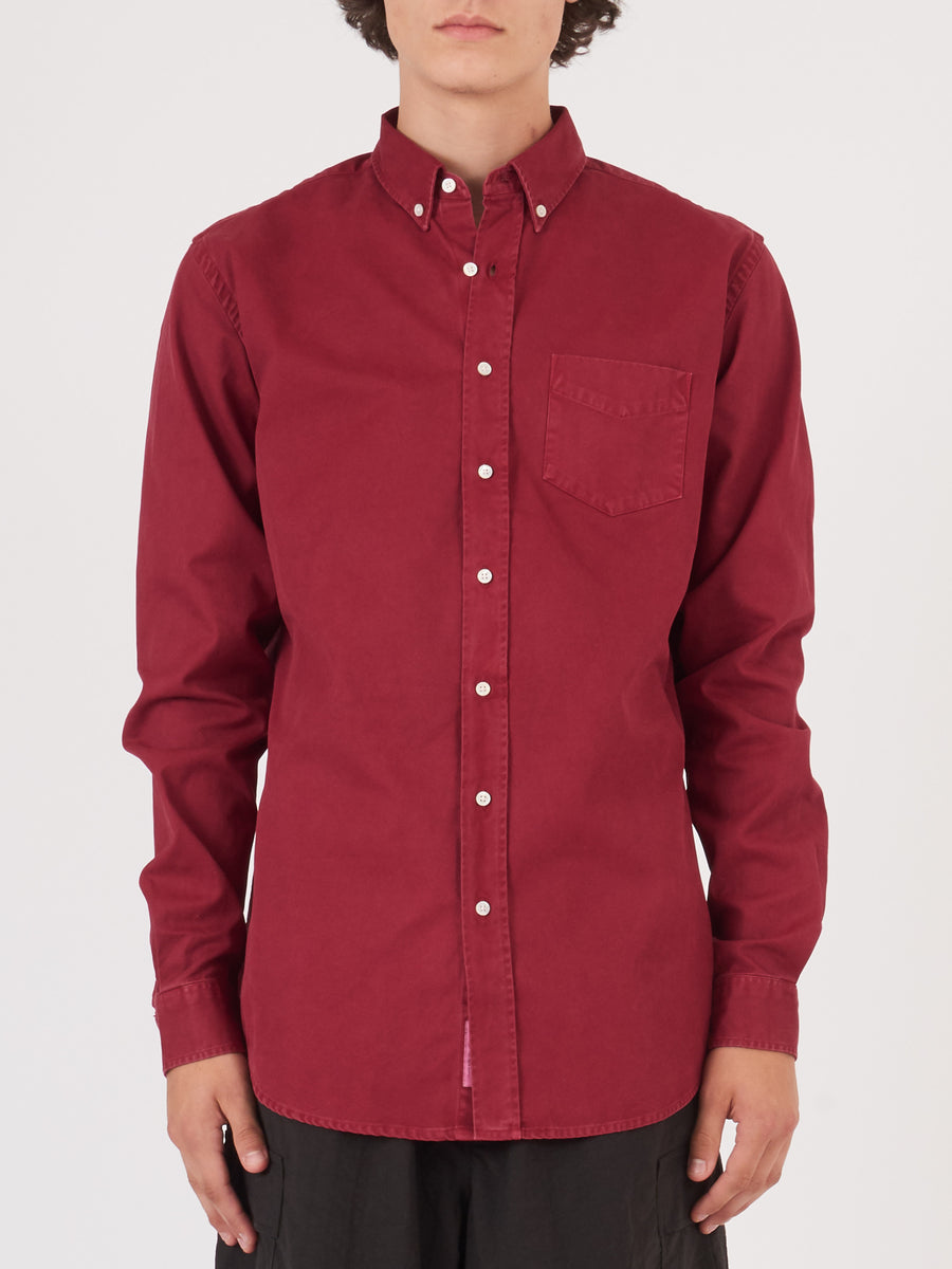 schnaydermans-Cadmium-Red-Overdyed-Shirt-on-body