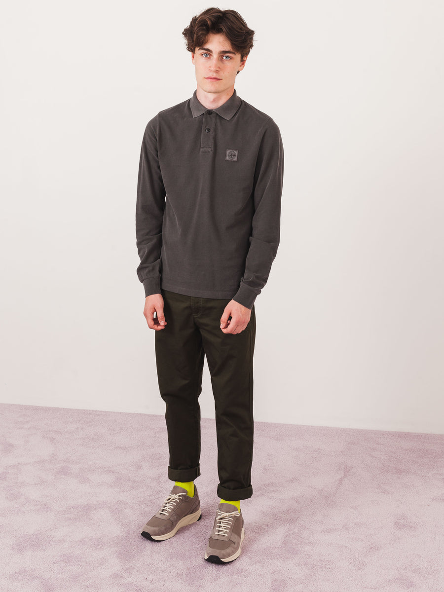 stone-island-Anthracite-L/S-Polo-on-body