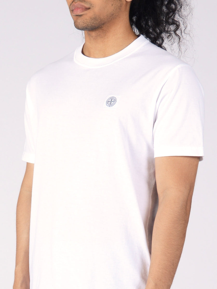 stone-island-Blanco-S/S-Tee-on-body