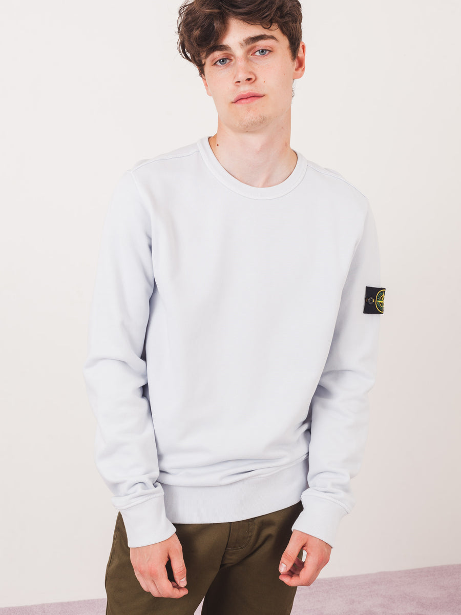 stone-island-Ice-Blue-Crewneck-Sweatshirt-on-body