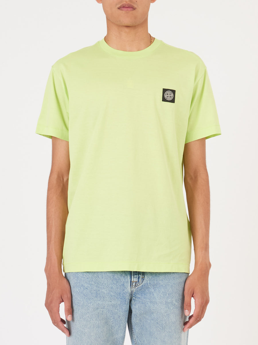 stone-island-Pistachio-S/S-Tee-on-body