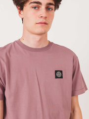 stone-island-Rosa-Quartzo-Logo-S/S-T-Shirt-on-body