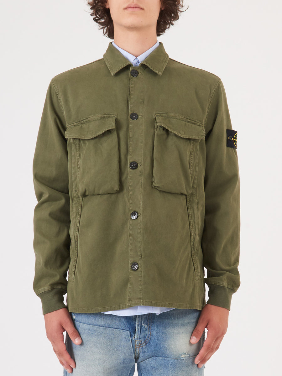 stone-island-Verde-Oliva-Over-Shirt-on-body
