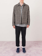 très-bien-Light-Grey-Wool-Check-Jacket-on-body