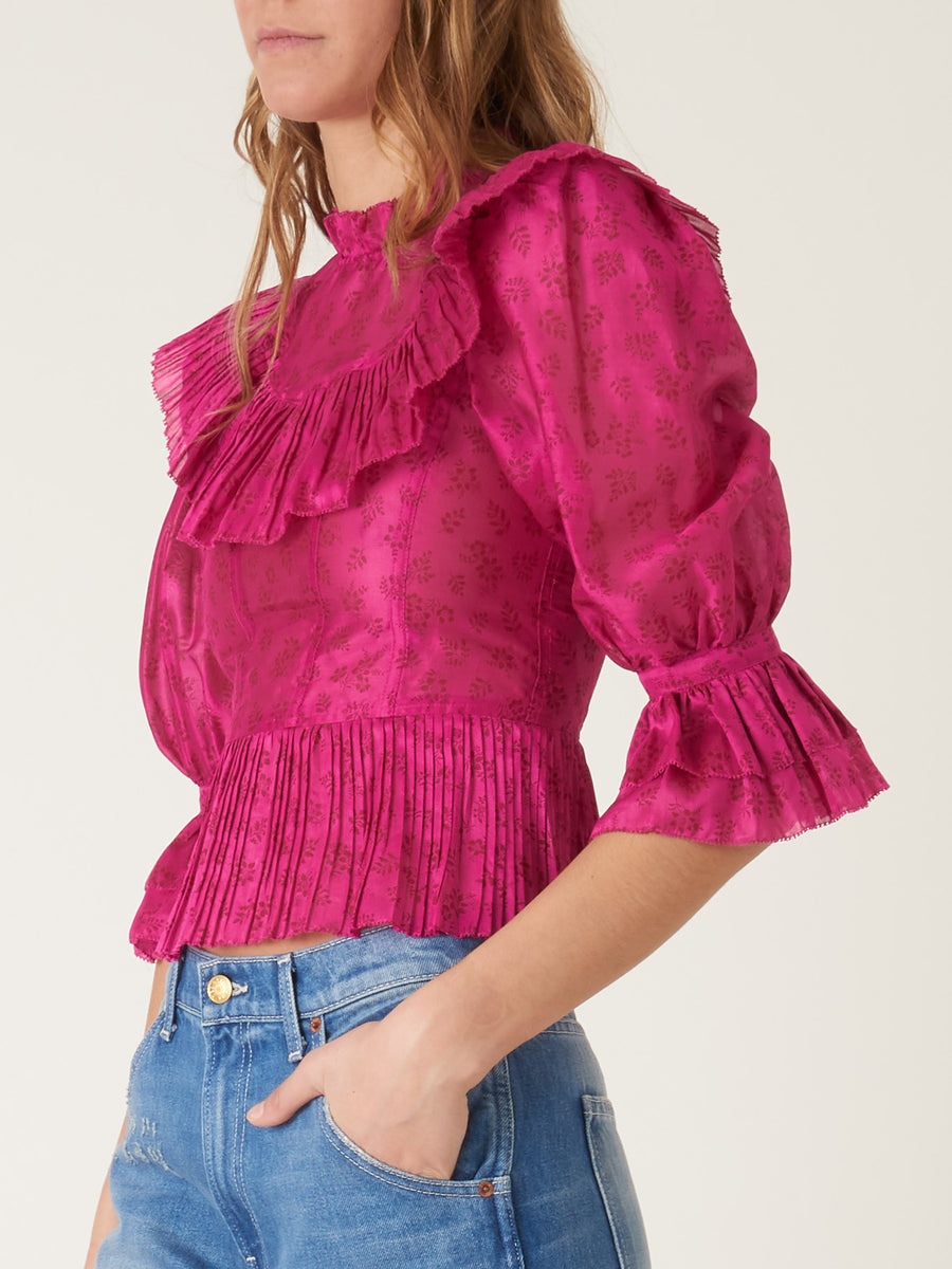 ulla-johnson-fuchsia-edna-blouse-on-body