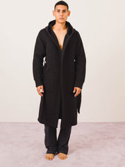 Black Cabin Fleece Robe