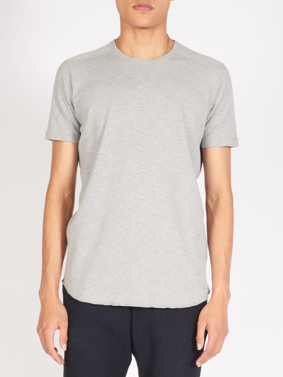 wings+horns-Heather-Grey-1X1-S/S-Slub-Crewneck