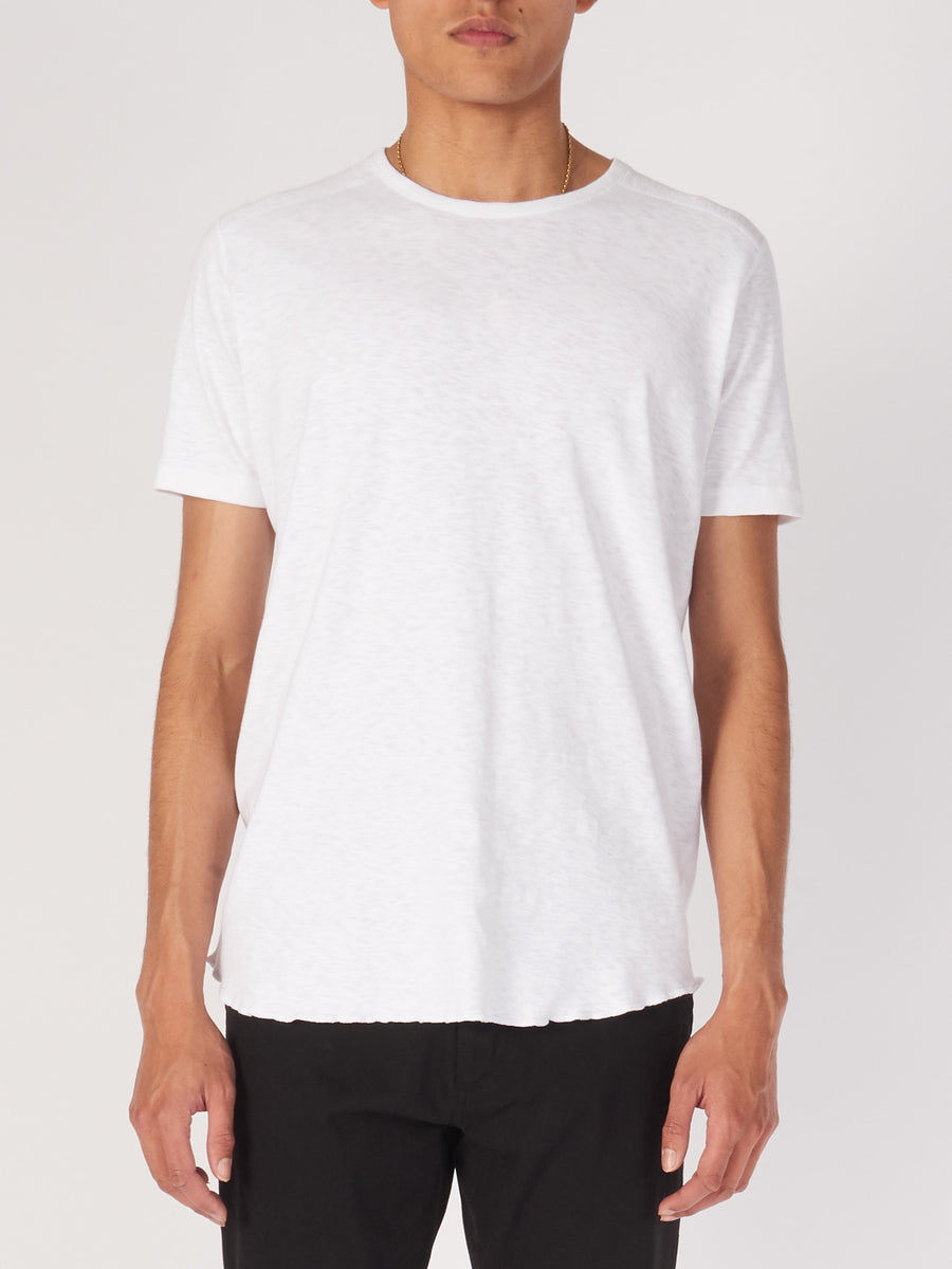 wings+horns-White-1X1-S/S-Slub-Crewneck-on-body
