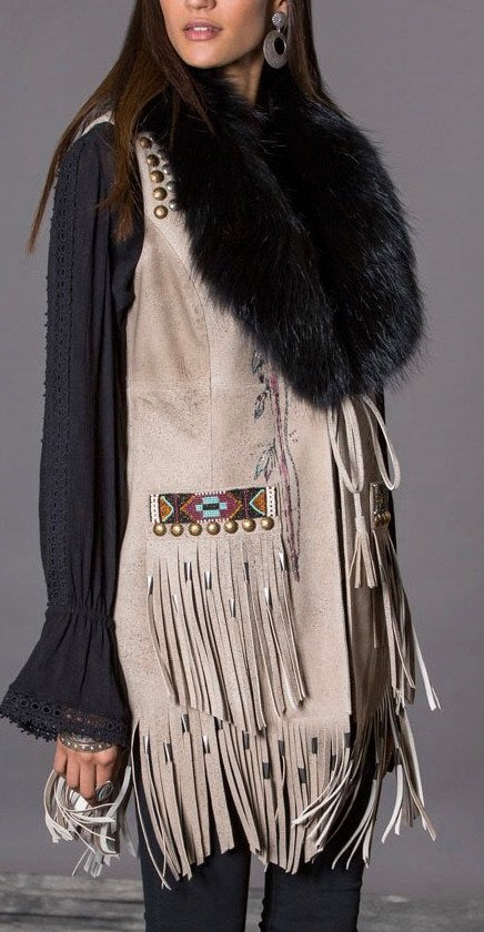 Double D Ranch Buckskin Artifacts Vest