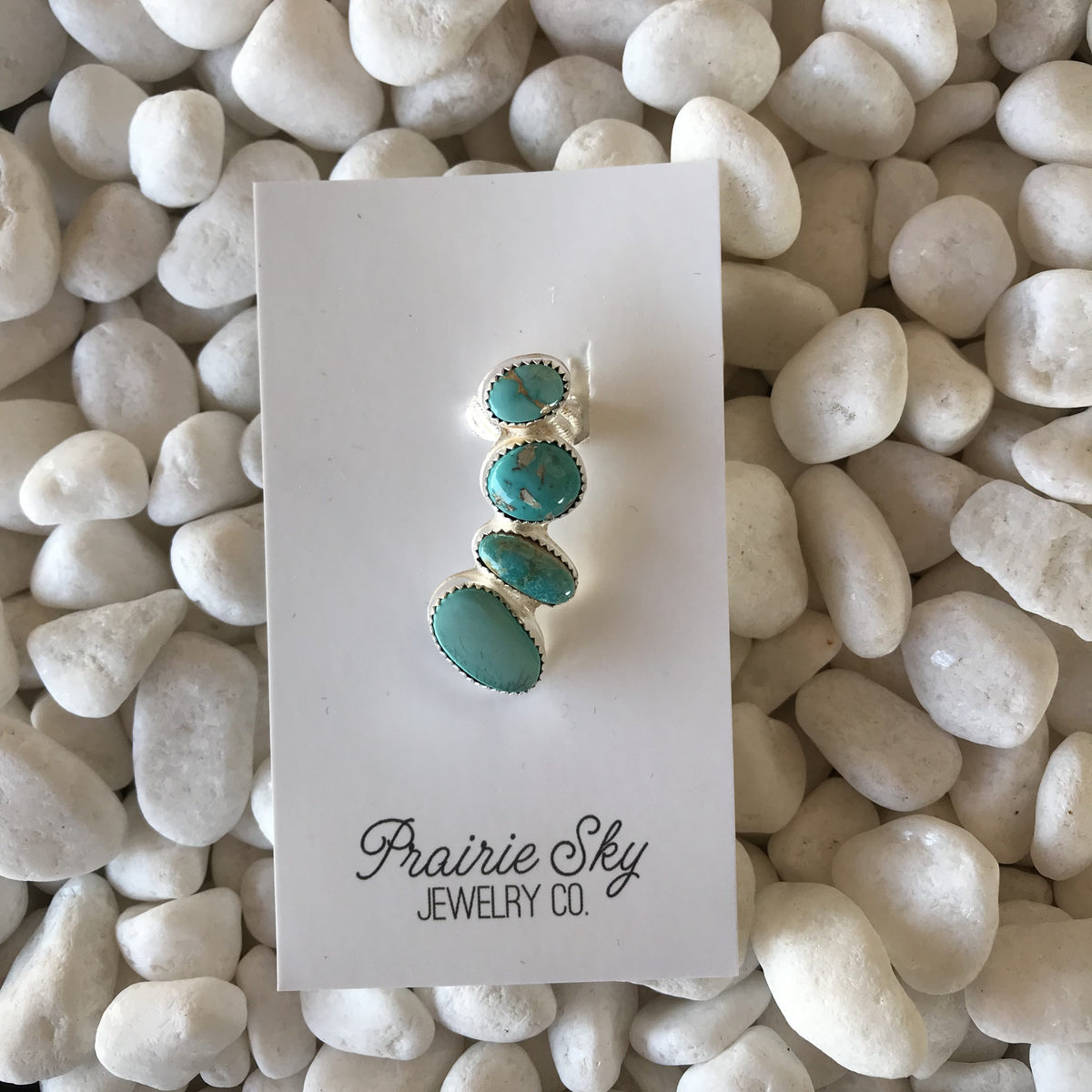Prairie Sky Half Ear Mixed Turquoise Large Stone Ear Cuff