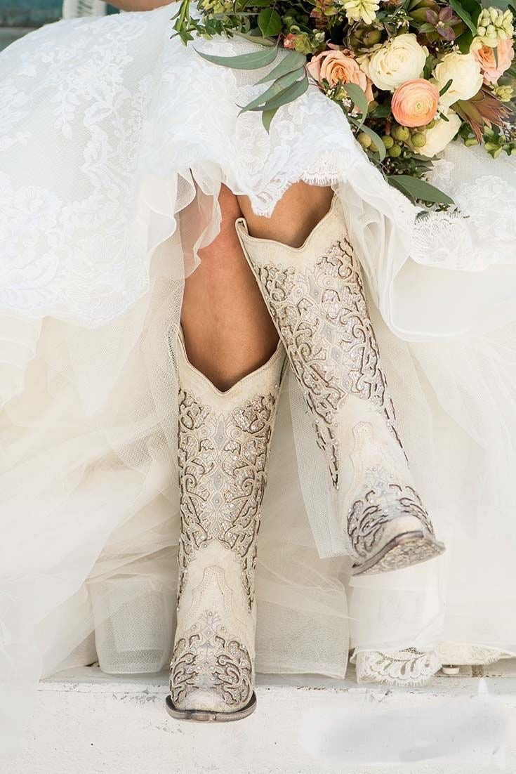 Corral Marry Me Boots - Ivory