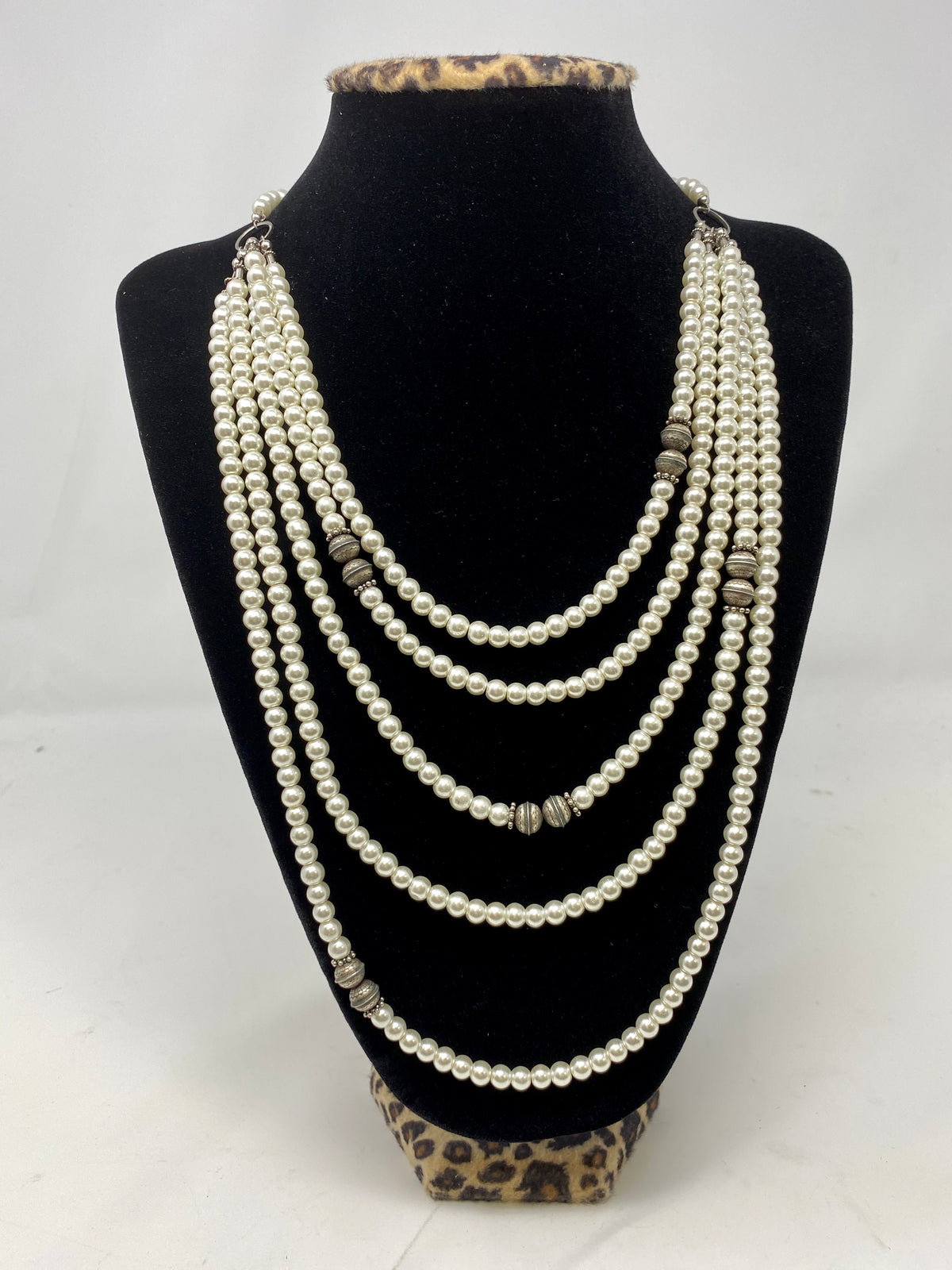 Vintage Pearl Tiered Necklace