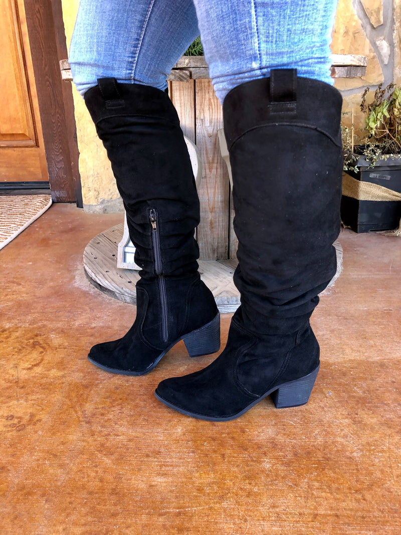 The Back To Black - Black Slouch Boot