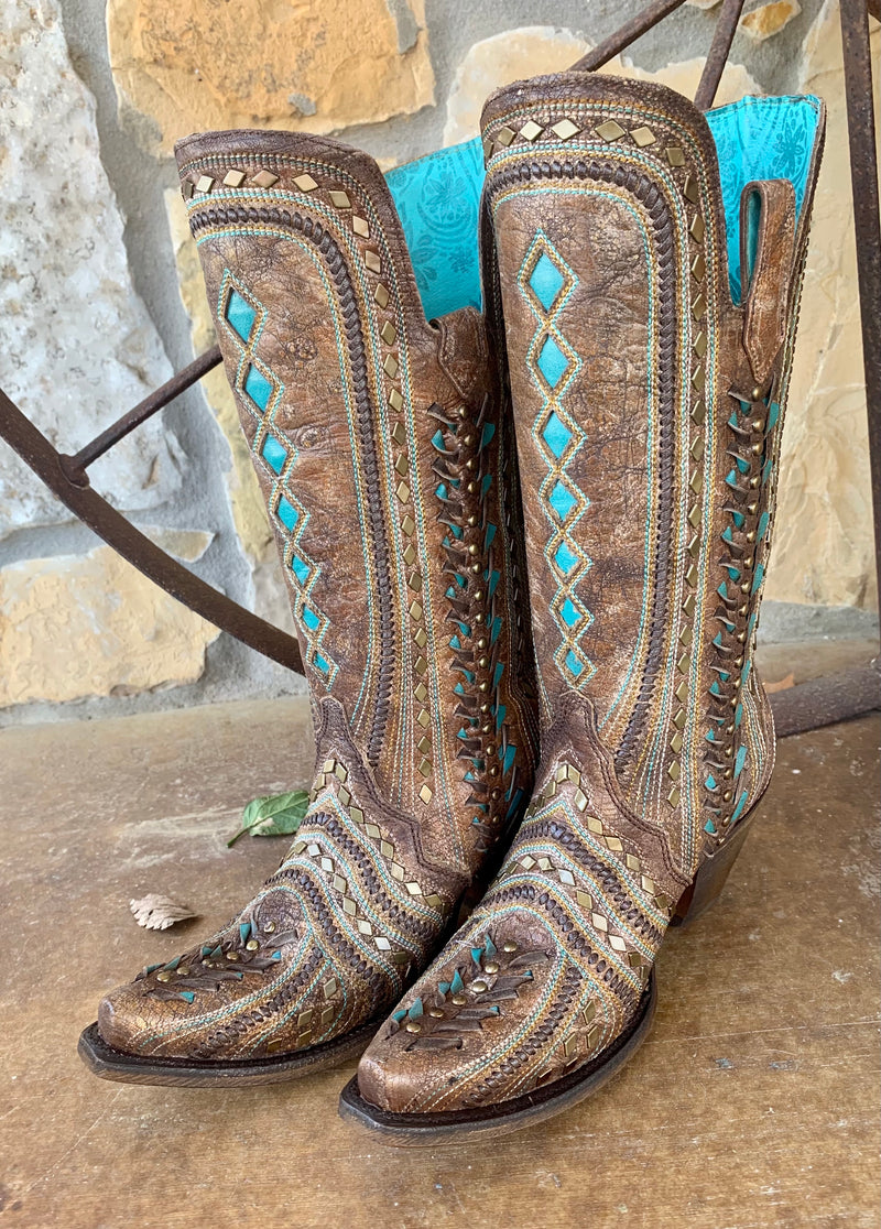 Corral Turquoise Diamond Boot