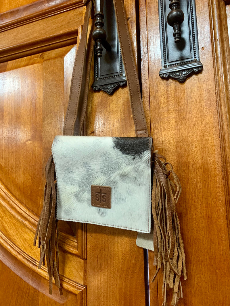 STS Cowhide Miss Kitty Saddle Crossbody