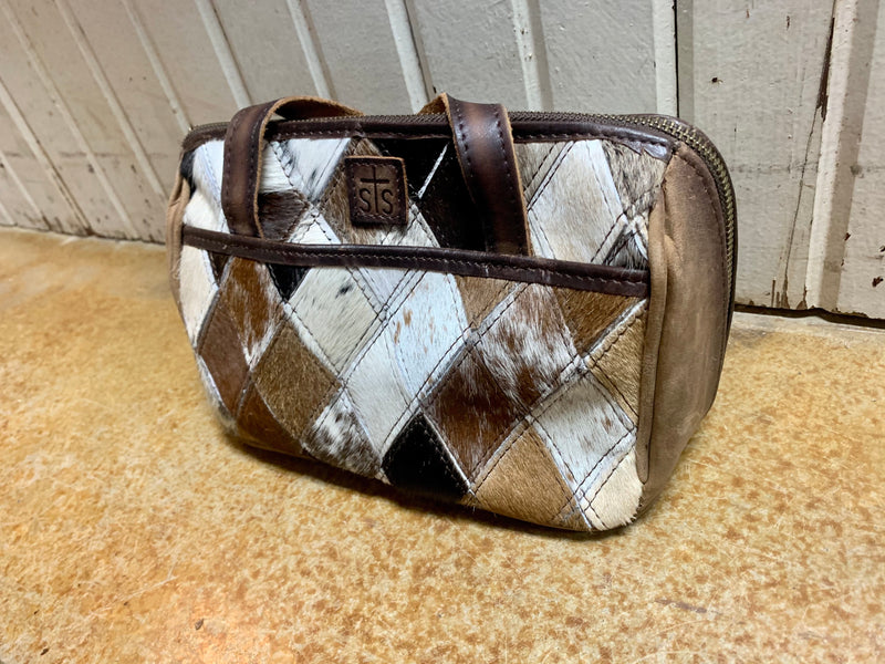 STS Diamond Cowhide Makeup Bag