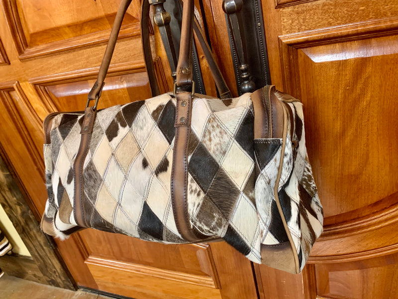 STS Diamond Cowhide Duffle Bag