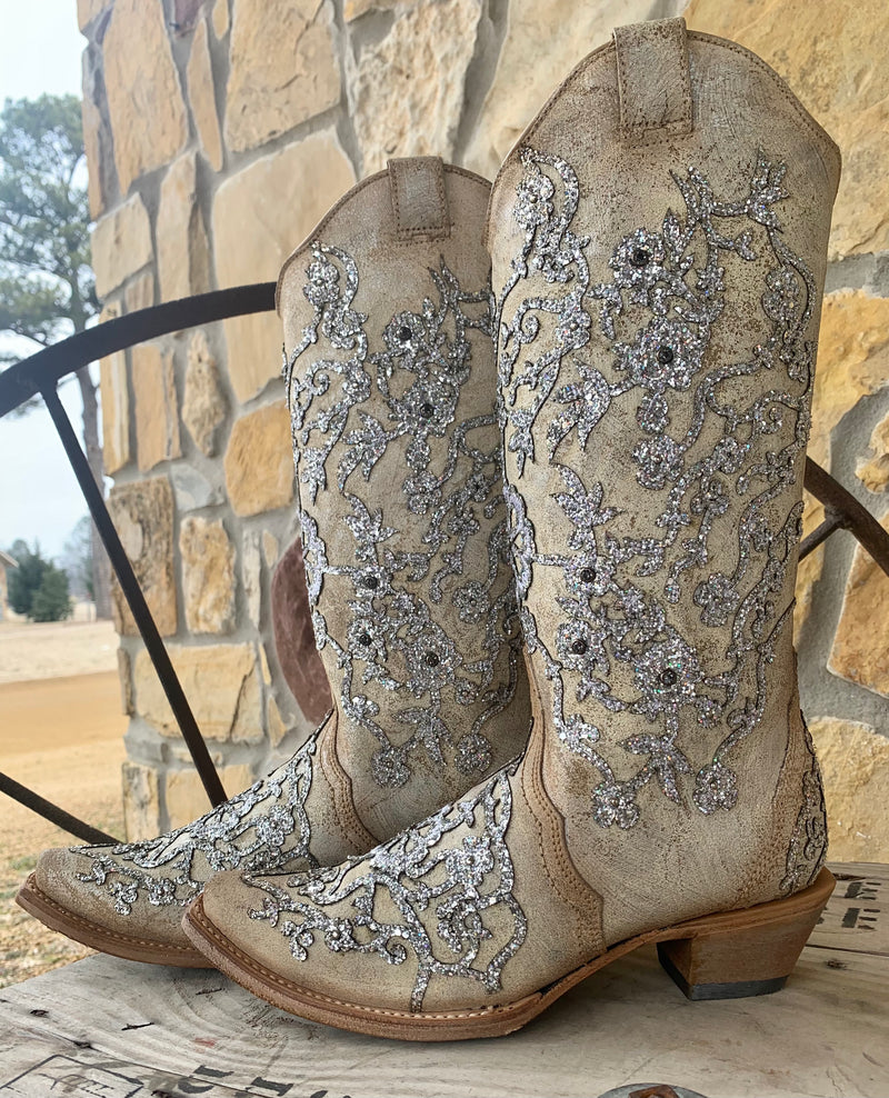 Corral Flower Happy Boots