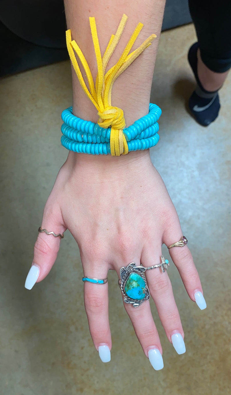 Pull Back The Layers Turquoise Bracelet