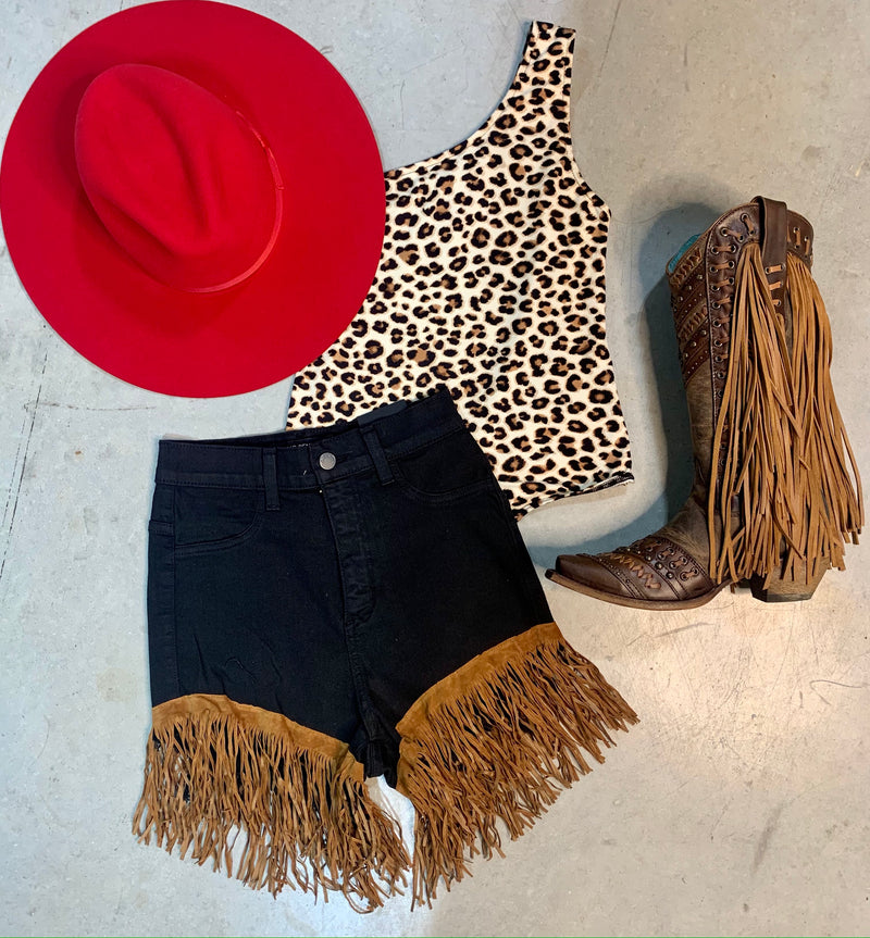Western Days Fringe Shorts