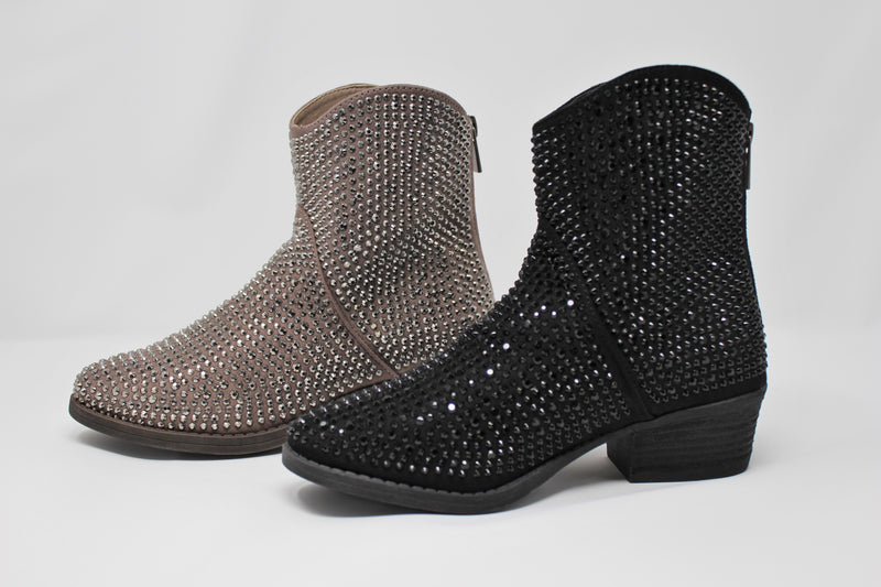 Very G Black Bling Bootie