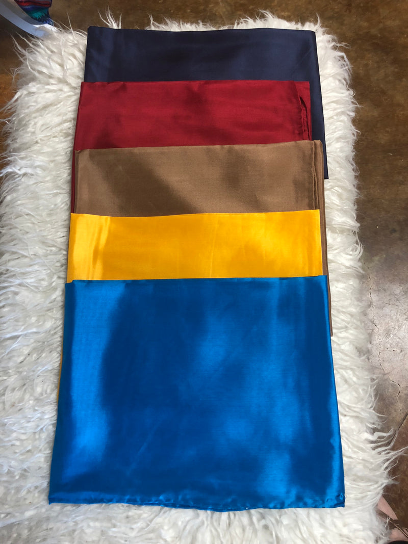 Large Solid Color Wild Rags