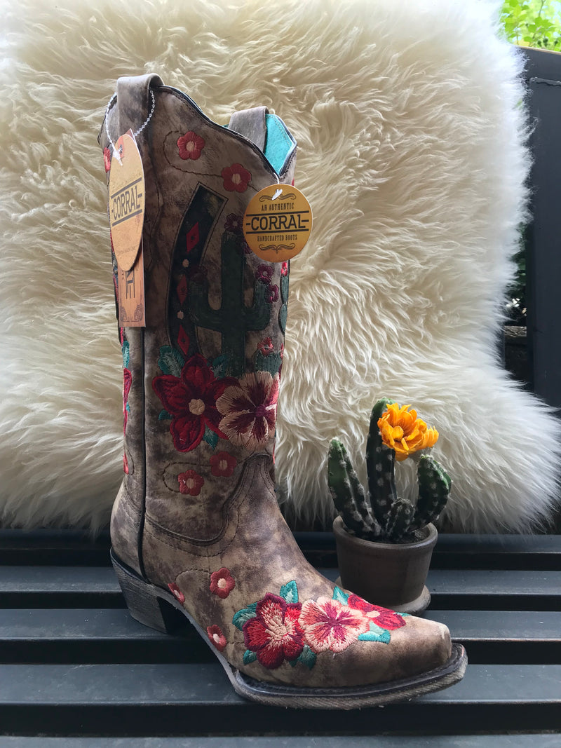 Corral Taupe Cactus Boot