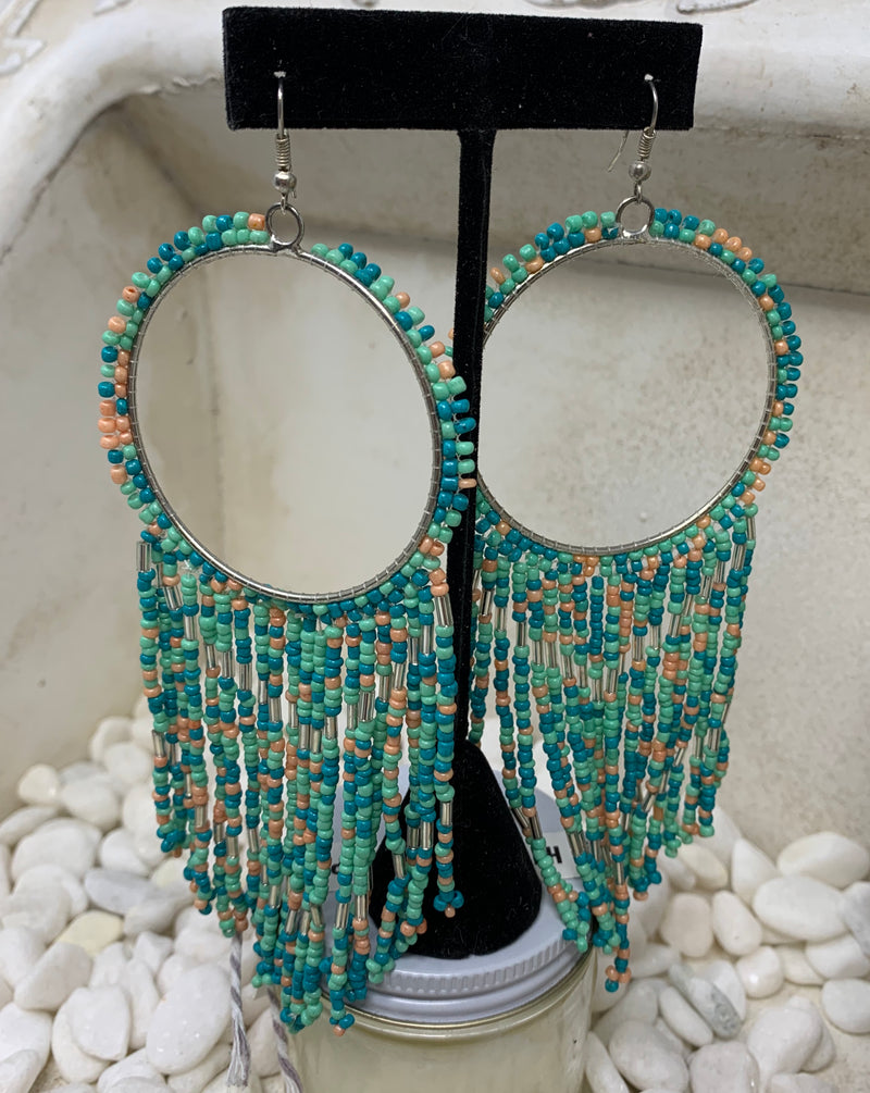 Turquoise Dream Catcher Drop Earrings