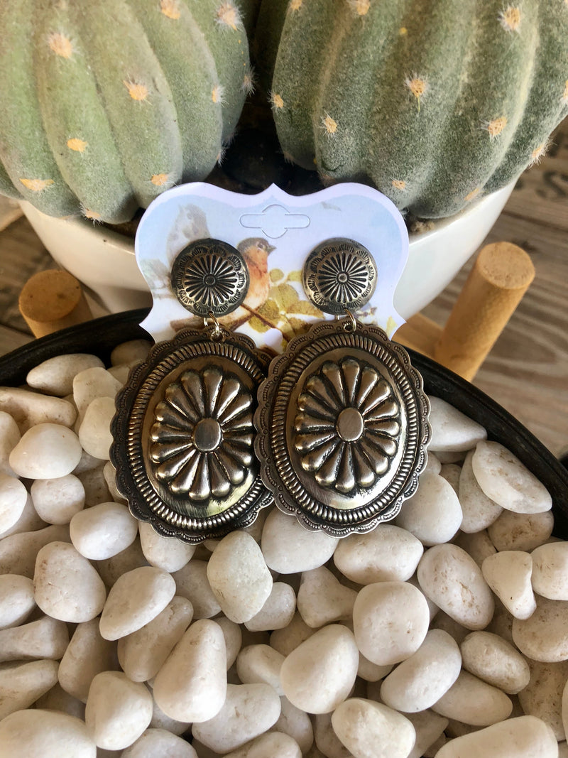The Silver Concho Earrings