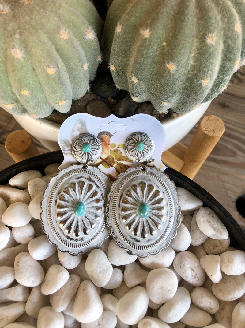 The Pearl Concho Earrings