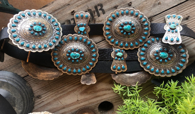Barbosa Turquoise Dream Concho Belt