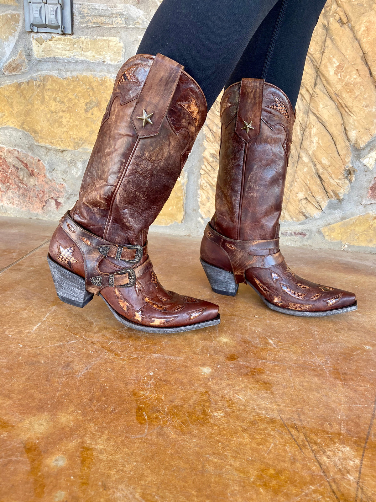 Old Gringo Astrid Boot In Brass