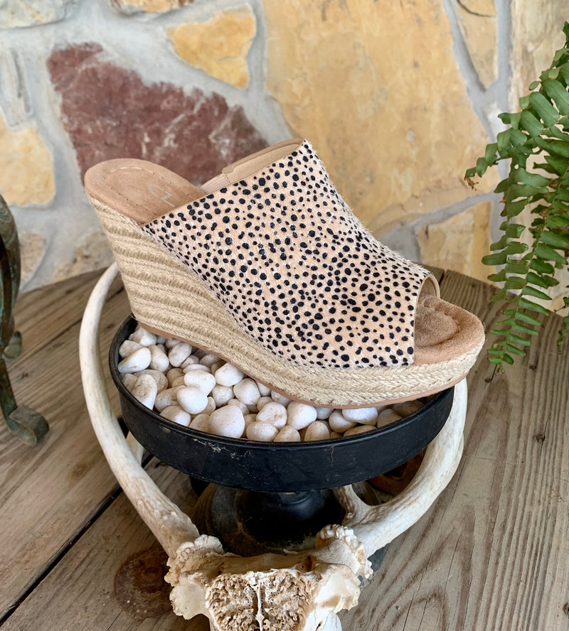 Billions Faux Cheetah Wedge