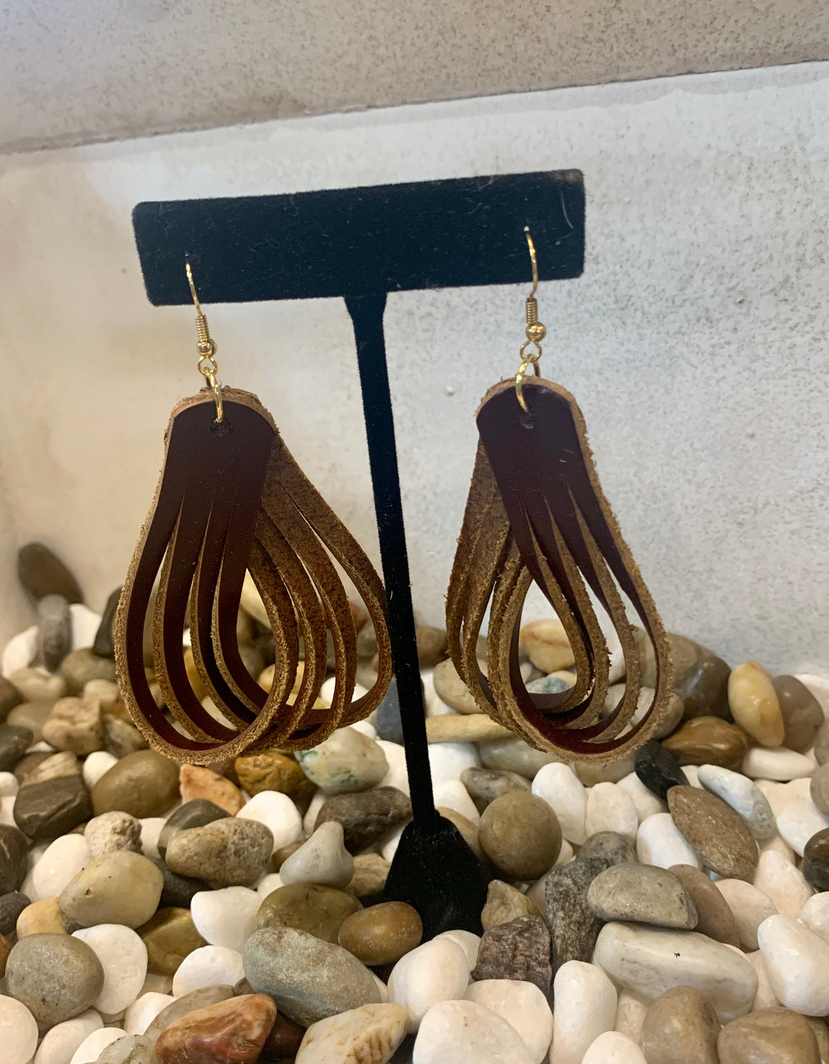 What Goes Around Leather Earrings