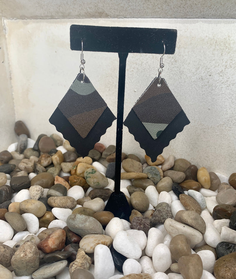 We're Incognito Leather Earrings