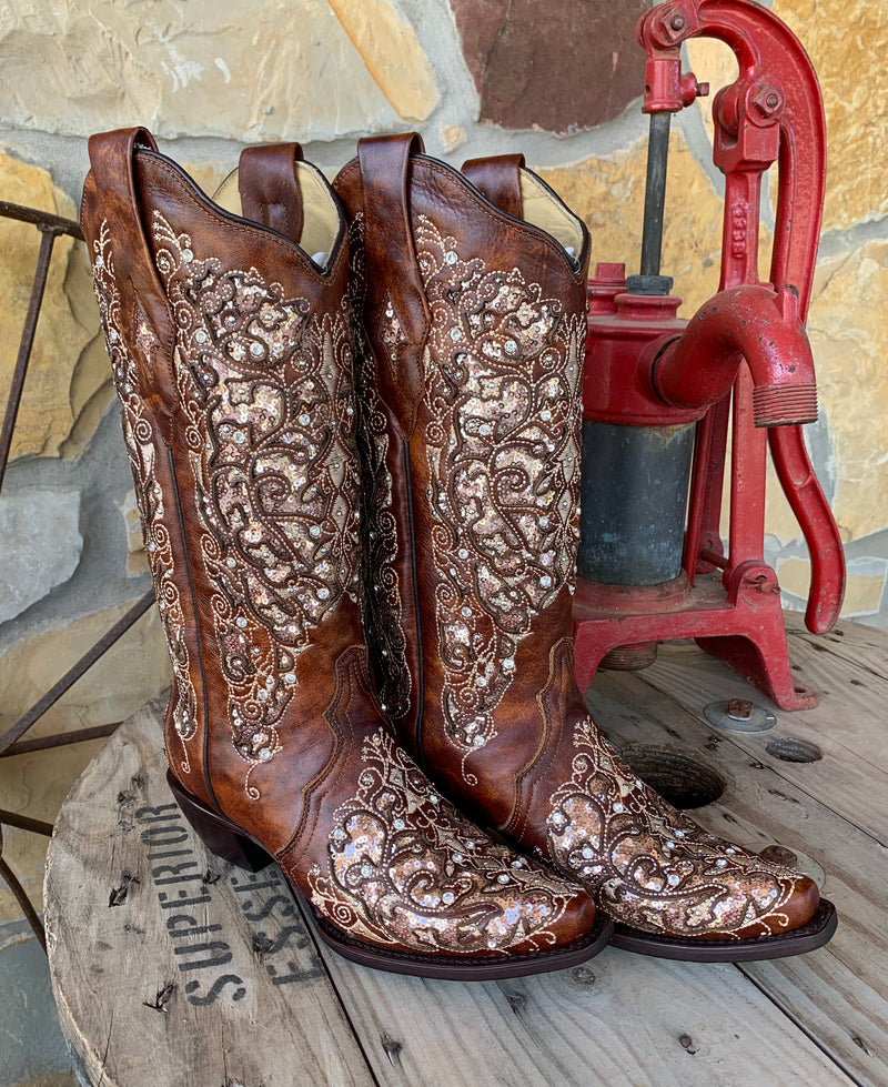 Corral Marry Me Boots - Saddle
