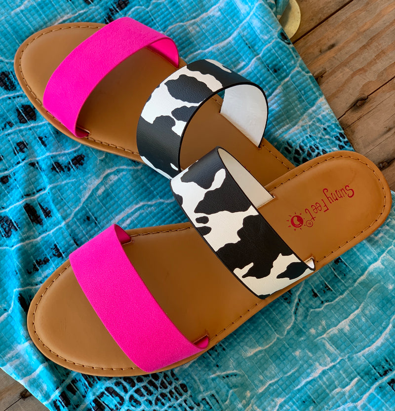 Cow Town Sandals