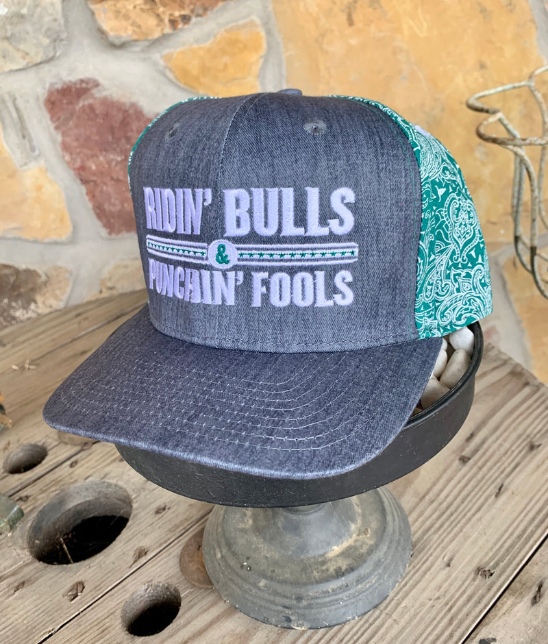 Ridin' Bulls Punchin Fools Cap by Dale Brisby